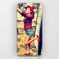 heels iPhone & iPod Skins featuring Laundry Heels by RAG3