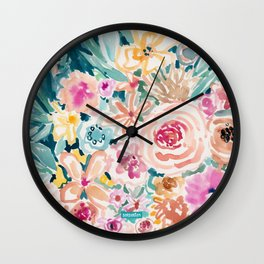 SMELLS LIKE PEACH BEACH Wall Clock