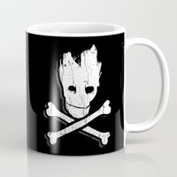 groot Mugs featuring Groot & Bones by The Cracked Dispensary