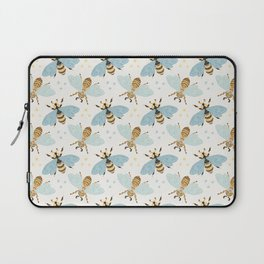 Cute Honey Bee Pattern - Save The Bees Laptop Sleeve