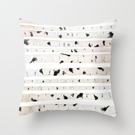 birch watercolor pattern 2018 Throw Pillow