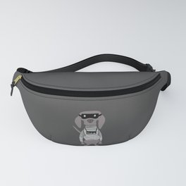 Weim Crime Grey Ghost Weimaraner Dog Hand-painted Pet Drawing Fanny Pack