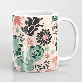 Succulent flowerbed Coffee Mug