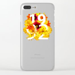 Flower 1992 Clear iPhone Case