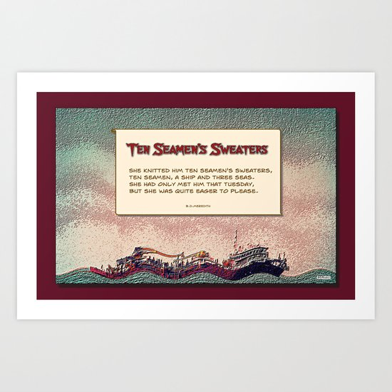 Ten Seamen's Sweaters Art Print
