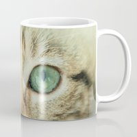 alisa burke Mugs featuring FELINE BEAUTY by Catspaws