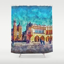Cracow Main Square Shower Curtain