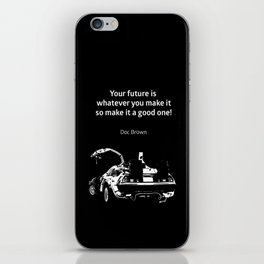 Back to the Future Doc Brown Quote 80s poster iPhone Skin