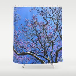 Blue Jacaranda 3/3 Shower Curtain