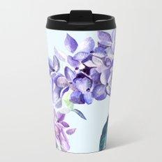 Hydrangea blue hues Metal Travel Mug
