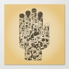 Hand food Canvas Print