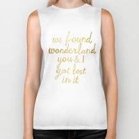 wonderland Biker Tanks featuring Wonderland by Tangerine-Tane