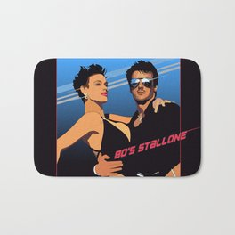 80s Stallone synthwave Bath Mat