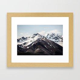 Alaska Mountain Range Framed Art Print