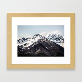 Alaska Mountain Range Framed Art Print