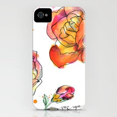 Inky Floral iPhone (4, 4s) Slim Case