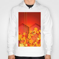 hexagon Hoodies featuring Hexagon Layers by Robin Curtiss
