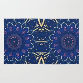 Pattern and Blues Rug