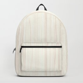 White Wood Texture Backpack