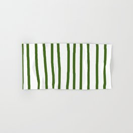 Simply Drawn Vertical Stripes in Jungle Green Hand & Bath Towel