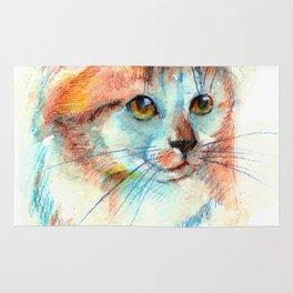 Bicolor cat portrait Rug