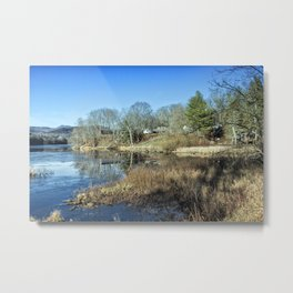 Pond in late autumn Metal Print