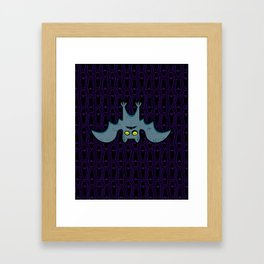 Hanging Til' Halloween - Bat Only Framed Art Print