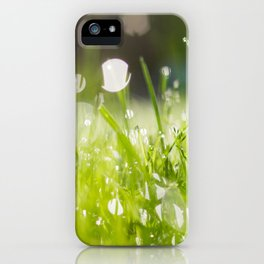 grassy morning iPhone Case