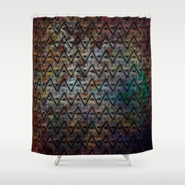 All Seeing Pattern Shower Curtain