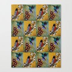 Hummingbird and Robin Canvas Print