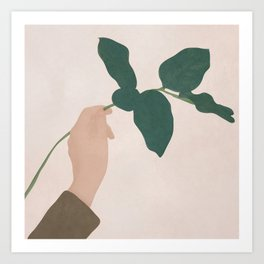 Holding the Branch Art Print