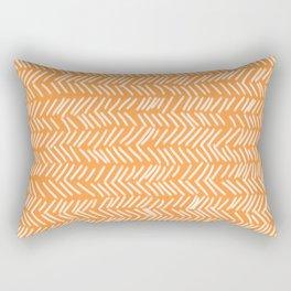 Sherbet Herringbone Lines Rectangular Pillow