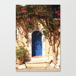 Santorini, Greece, countryside door, blue door Canvas Print