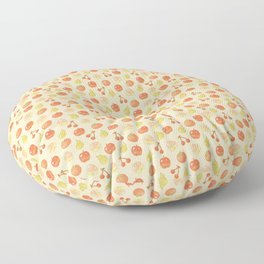 Fruits Pixel Art Pattern | Apple Pear Orange Cherry Peach Floor Pillow