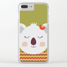 Kika Koala Clear iPhone Case