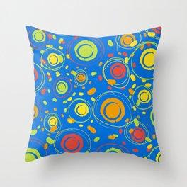 Patio Lantens Blue Throw Pillow