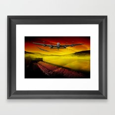 Lancasters over Woodhead Framed Art Print