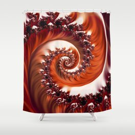 Beautiful Crimson Passion - The Heart of the Rose Fractal Shower Curtain