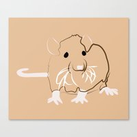 rat Canvas Prints featuring Rat by Jessica Slater Design & Illustration
