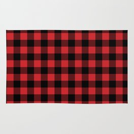 Buffalo Plaid Rustic Lumberjack Buffalo Check Pattern Rug