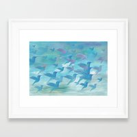 wings Framed Art Prints featuring Wings by sandesign