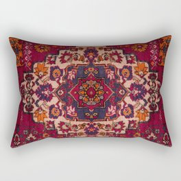 Vintage Moroccan Rug Design B17 Rectangular Pillow