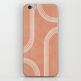Mid Century Modern 2 - Geometrical Abstract - Minimal Print - Terracotta Abstract - Burnt Sienna iPhone Skin