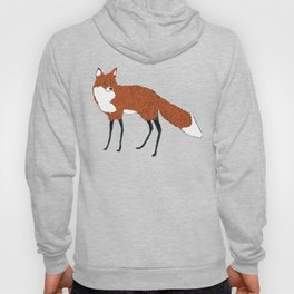 Fox in the snow, Kitsune, Vintage inspired illustration Hoody