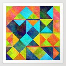 Vibrant Geometric Pattern 15 Art Print