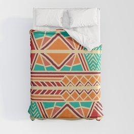 Tribal ethnic geometric pattern 027 Duvet Cover