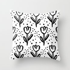 tulips filed Throw Pillow