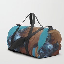 Leo the Boxer Dog Portrait Duffle Bag