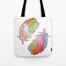 Neon feather Tote Bag