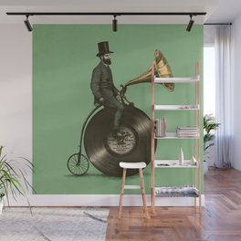 Music Man (Green Option) Wall Mural